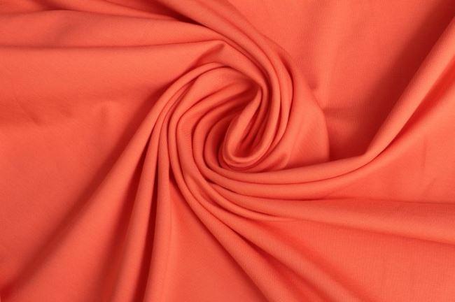 Bavlněný úplet ve světle oranžové barvě 05438/136