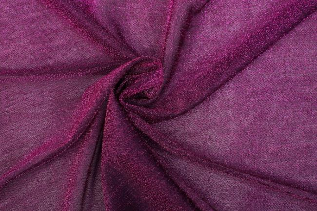 Průsvitná pletenina v kombinaci černé a sytě růžové 05587/017