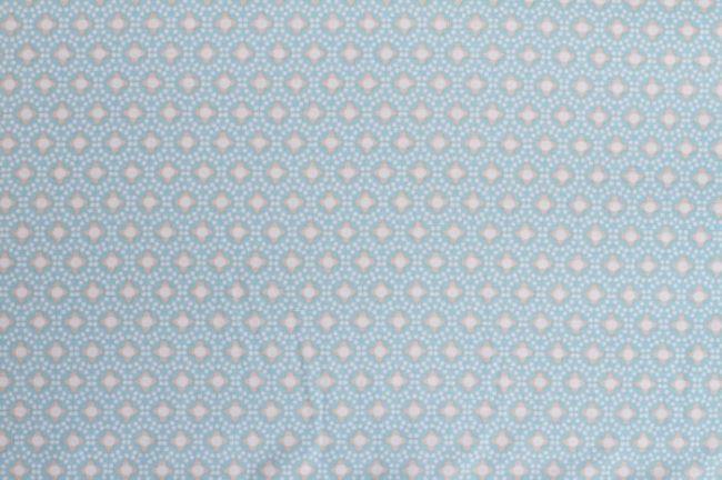 Bavlna ve světle modré barvě se vzorem 6496/2