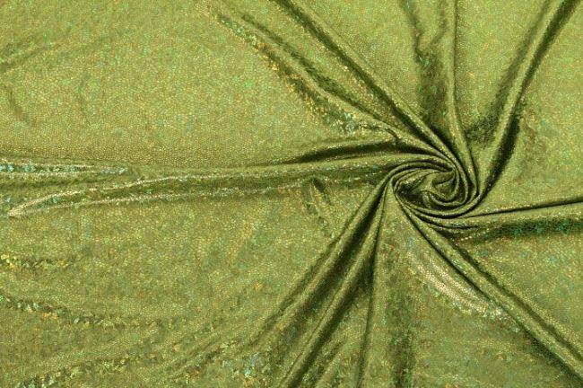 Lamé zelené vzorované 02213/023