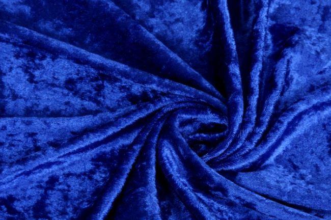 Velour de panne - královská modř 0140/650
