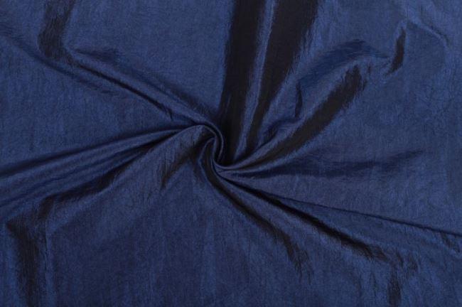 Krešovaný taft v modré barvě 05516/005