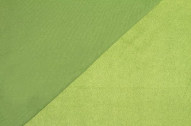 Teplákovina počesaná hráškově zelená 05650/024
