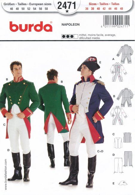 Střih na kostým Napoleona 2471