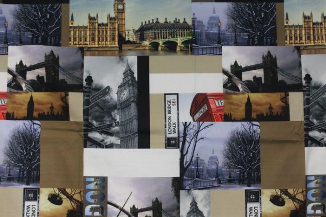 Dekorační látka s digitálním potiskem Londýna 1064/069