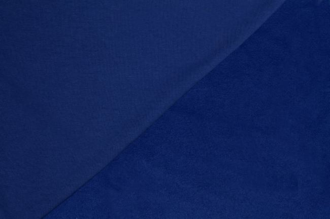 Počesaná teplákovina královsky modrá 05650/005