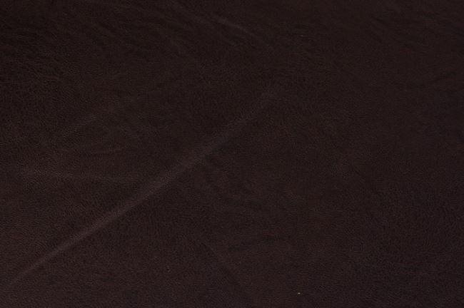 Imitace kůže v tmavě hnědé barvě 05170/058
