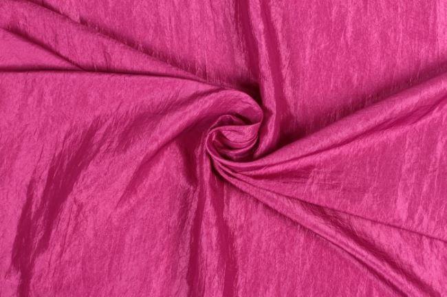 Krešovaný taft v sytě růžové barvě 05516/712