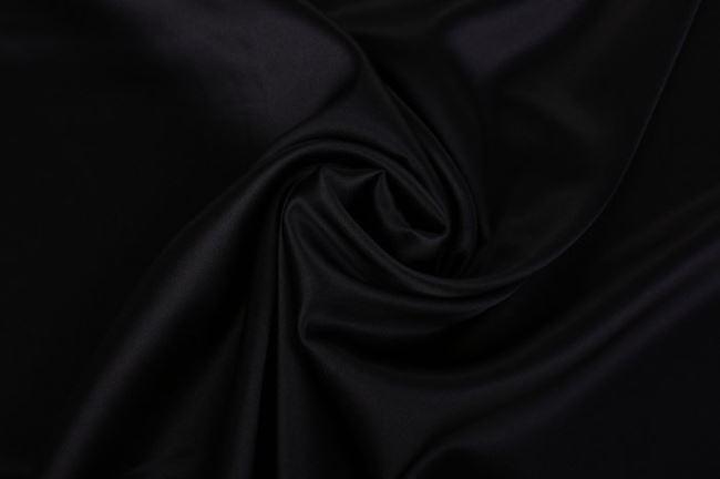Pružné hedvábí v černé barvě 605692/5001