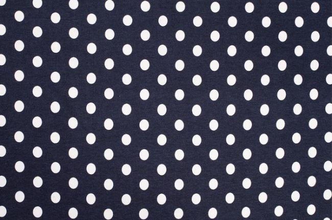 Úplet tmavě modrý s puntíkem 02055/008