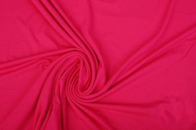Viskózový úplet v sytě růžové barvě 02194/217