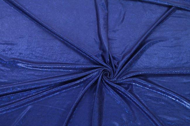 Lamé pletenina se vzorem v královské modři 02213/005
