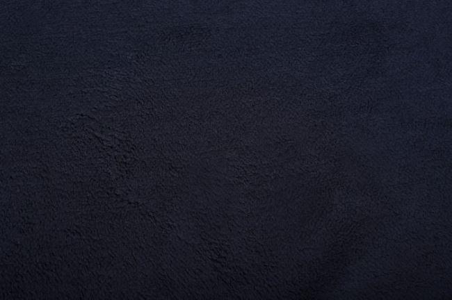 Fleece s chlupem tmavě modré barvy 5337/008
