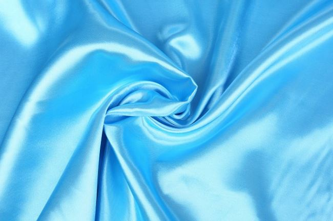 Satén v jasně modré barvě 0141/661