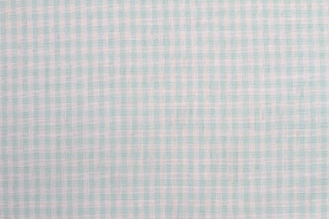 Bavlna se vzorem kostky v mentolové barvě 05582/022