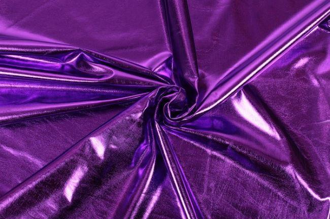 Lamé pletenina ve fialové barvě 09746/045