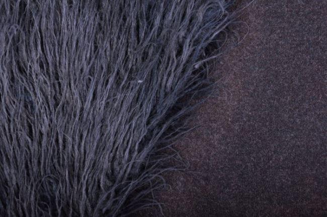 Kožešina s chlupem šedomodrá PS70